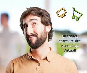 Qual a diferença entre um site e uma loja virtual