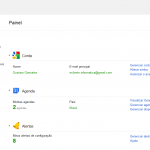 imagem dashboard do google