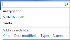 busca de arquivos