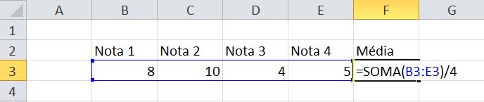 calculo da media 2