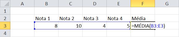 calculo da media 3